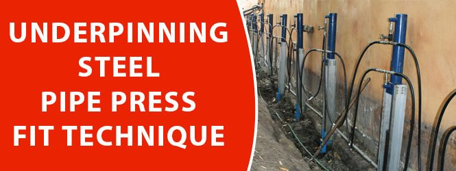 Underpinning Steel Pipe Press Fit Technique